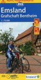 ADFC-Regionalkarte Emsland Grafschaft Bentheim mit Tagestouren-Vorschlägen, 1:75.000, reiß- und wetterfest, GPS-Tracks D