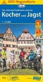 ADFC-Regionalkarte Die schönsten Radtouren rund um Kocher und Jagst, 1:75.000, reiß- und wetterfest, GPS-Tracks Download