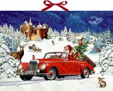 Wand-Adventskalender - Winterfahrt im Oldtimer