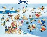 Wand-Adventskalender - Fröhliche Eisbären-Weihnacht