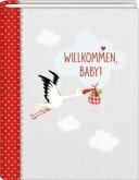 Kleines Foto-Einsteckalbum - BabyGlück - Willkommen, Baby!