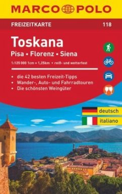MARCO POLO Freizeitkarte Europa Blatt 118 Toskana