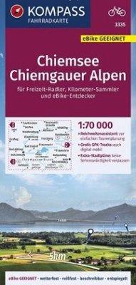 KOMPASS Fahrradkarte Chiemsee, Chiemgauer Alpen 1:70.000