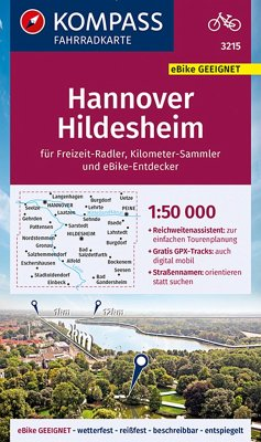 KOMPASS Fahrradkarte Hannover, Hildesheim 1:50.000