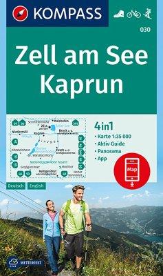 KOMPASS Wanderkarte Zell am See, Kaprun