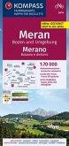 KOMPASS Fahrradkarte Meran, Bozen und Umgebung, Merano, Bolzano e dintorni 1:70.000