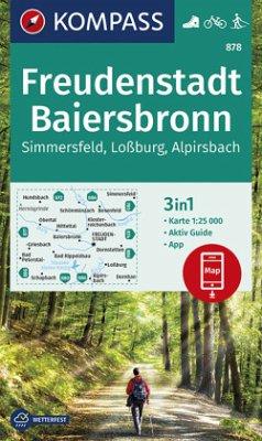 KOMPASS Wanderkarte Freudenstadt, Baiersbronn, Simmersfeld, Loßburg, Alpirsbach