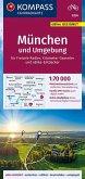 KOMPASS Fahrradkarte München und Umgebung 1:70.000