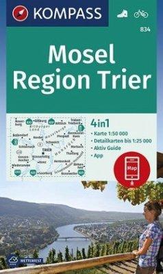 KOMPASS Wanderkarte Mosel, Region Trier