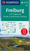 KOMPASS Wanderkarte Freiburg und Umgebung, Kandel, Schauinsland, Feldberg