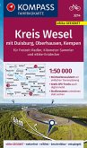 KOMPASS Fahrradkarte Kreis Wesel mit Duisburg, Oberhausen, Kempen 1:50.000