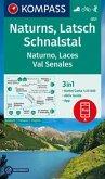 KOMPASS Wanderkarte Naturns, Latsch, Schnalstal, Naturno, Laces, Val Senales