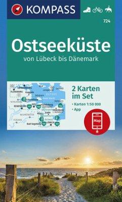 KOMPASS Wanderkarte Ostseeküste von Lübeck bis Dänemark