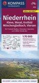 KOMPASS Fahrradkarte Niederrhein, Kleve, Wesel, Krefeld, Mönchengladbach, Viersen 1:70.000