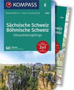 KOMPASS Wanderführer Sächsische Schweiz, Böhmische Schweiz, Elbsandsteingebirge - Pollmann, Bernhard