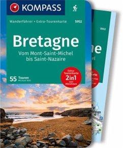 KOMPASS Wanderführer Bretagne, vom Mont-Saint-Michel bis Saint-Nazaire - Will, Michael