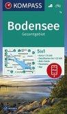 KOMPASS Wanderkarte Bodensee Gesamtgebiet