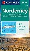 KOMPASS Wanderkarte Norderney im Nationalpark Niedersächsisches Wattenmeer