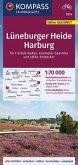 KOMPASS Fahrradkarte Lüneburger Heide, Harburg 1:70.000