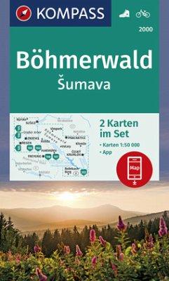 KOMPASS Wanderkarte Böhmerwald, Sumava