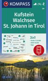 KOMPASS Wanderkarte Kufstein, Walchsee, St. Johann in Tirol