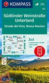 KOMPASS Wanderkarte Südtiroler Weinstraße, Unterland, Strada del Vino, Bassa Atesina