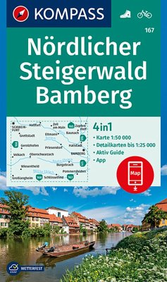 KOMPASS Wanderkarte Nördlicher Steigerwald, Bamberg