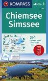 KOMPASS Wanderkarte Chiemsee, Simssee