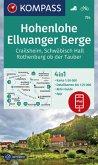 KOMPASS Wanderkarte Hohenlohe, Ellwanger Berge, Crailsheim, Schwäbisch Hall, Rothenburg ob der Tauber