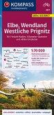 KOMPASS Fahrradkarte Elbe, Wendland, Westliche Prignitz 1:70.000