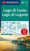 KOMPASS Wanderkarte Lago di Como, Lago di Lugano