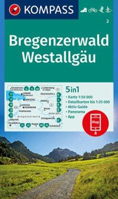 KOMPASS Wanderkarte Bregenzerwald, Westallgäu