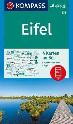 Kompass Karte Eifel, 4 Bl.