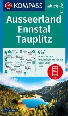 KOMPASS Wanderkarte Ausseerland, Ennstal, Tauplitz