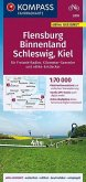KOMPASS Fahrradkarte Flensburg Binnenland, Schleswig, Kiel 1:70.000