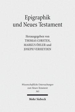 Epigraphik und Neues Testament (eBook, PDF)