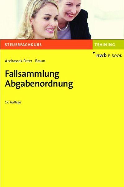 Fallsammlung Abgabenordnung (eBook, PDF) von Ramona ...