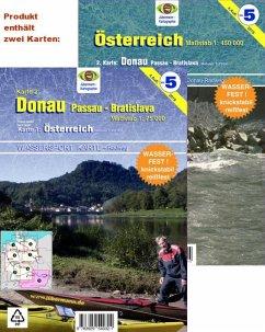 Jübermann Wassersport-Wanderkarte Österreich