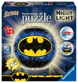Ravensburger 11080 - Batman, Night Light, Nachtlicht, Puzzleball, 3D Puzzle, Kinderpuzzle, 72 Teile