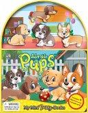 Hundebabys, Spielbuch + 4 Spielfiguren + ausklappbare Spielmatte