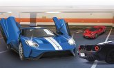 Jamara Ford GT 1:14 blau Tür manuell 27MHz