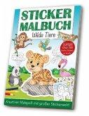 Stickermalbuch Wilde Tiere