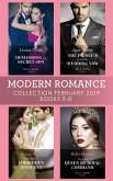 Modern Romance February Books 5-8: Demanding His Secret Son / The Prince's Scandalous Wedding Vow / The Greek's Forbidden Innocent / Untouched Queen by Royal Command (eBook, ePUB)