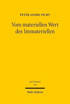 Vom materiellen Wert des Immateriellen (eBook, PDF) - Picht, Peter Georg