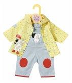 Zapf Creation 870525 - Dolly Moda Latzhose mit Regenjacke, Puppenkleidung, Gr. 43cm