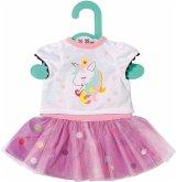 Zapf Creation® 870563 - Dolly Moda Einhorn Shirt mit Tutu, 36 cm Rock