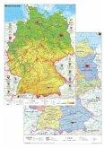 Stiefel Deutschland physisch/politisch, DUO-Schreibunterlage (Hochformat)
