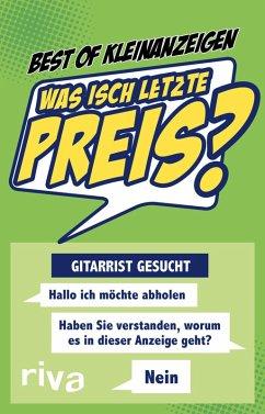 Was isch letzte Preis? (eBook, PDF) - Best of Kleinanzeigen