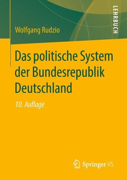 Das politische System der Bundesrepublik Deutschland (eBook, PDF) - Rudzio, Wolfgang