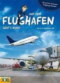 Auf dem Flughafen geht's rund - mit großem, farbigem Flugzeug-Poster